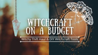 Practice witchcraft on budget   witchy thrift haul   Free witchcraft supplies