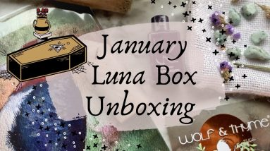 January Wolf & Thyme Unboxing    Luna Box Review