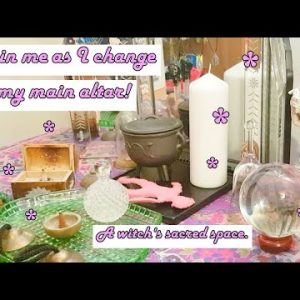 Rambling Witch | Changing Up My Altar! Jewellery, Crystals, Magickal Tools!